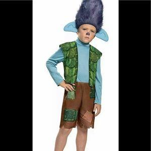 NEW Dreamworks Trolls World Tour Branch Child Costume Toddler 3T-4T Dress Up